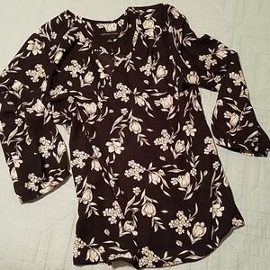 SALE Adrienne Vittadini floral blouse